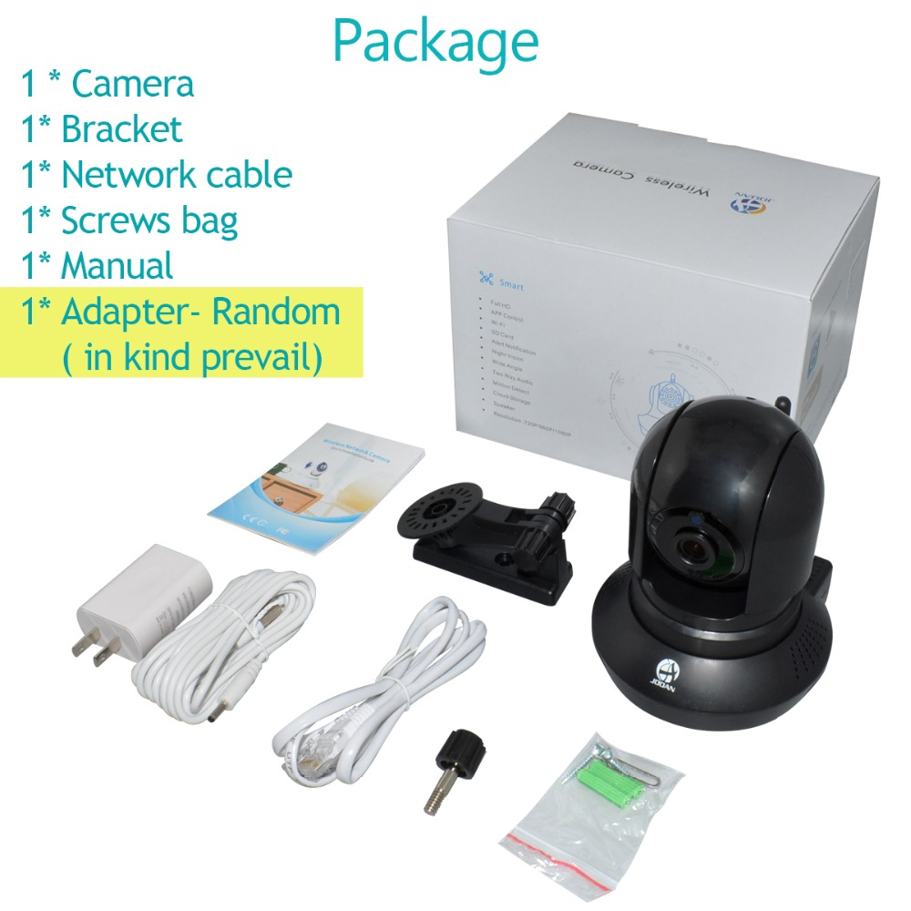 JOOAN Wireless IP Camera 720P Network Security Camera Night Vision CCTV Camera with Two-way Audio