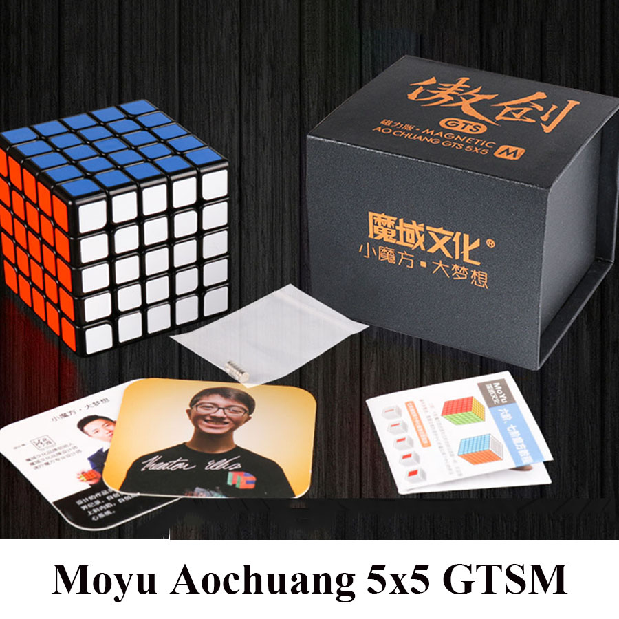 New MoYu Aochuang GTSM 5x5x5 Magnetic Black/Stickerless Magic Cube Speed Puzzle Cube Toys For Children leadingstar moyu aochuang gts m 5x5 magnetic smart cube magic cube speed puzzle cubes educational toys for children