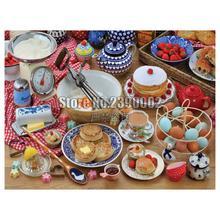 tableware and Baking 5D Diamond Mosaic Rhinestone Needlework Diy Painting Cross Stitch Food & Drink Embroidery