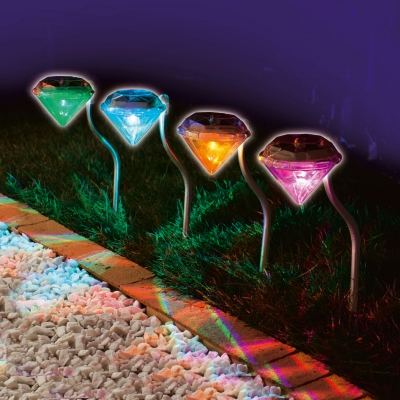 Us 18 8 50 Off Stainless Solar Lawn Light For Garden Decorative 100 Led Outdoor Lights Diamond Yard Lighting In