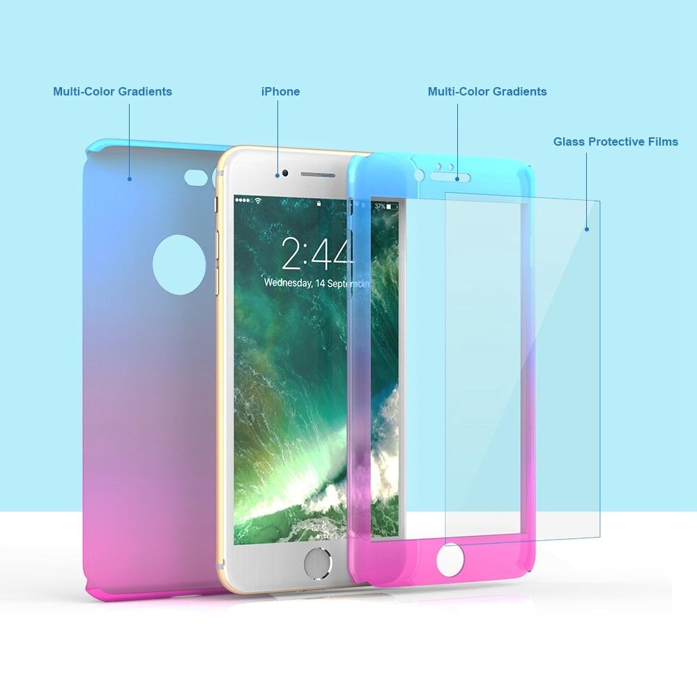 FLOVEME För iPhone 6 Fodral iPhone 6S 6 Plus Cover 360 graders - Reservdelar och tillbehör för mobiltelefoner - Foto 2