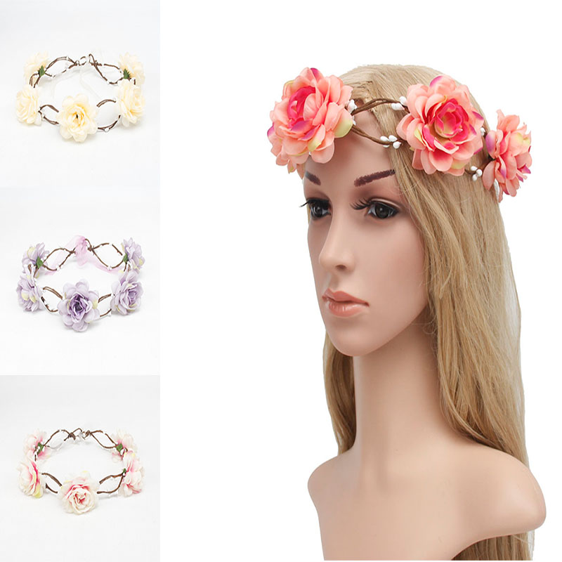 Wedding Hairstyle With Headband: Aliexpress.com : Buy 1PC Bohemia Women Wedding Flower