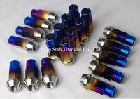 Titanium Ti Alloy Car Hub Bolts M12 X 1 25 X 50 Mm M12 X 1
