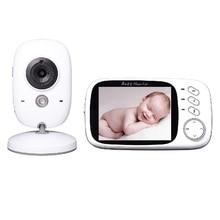 3.2 inch baba electronics video nanny baby monitor IR Night vision Intercom 8Lullabies Temperature monitor Pan/Tilt baby camera