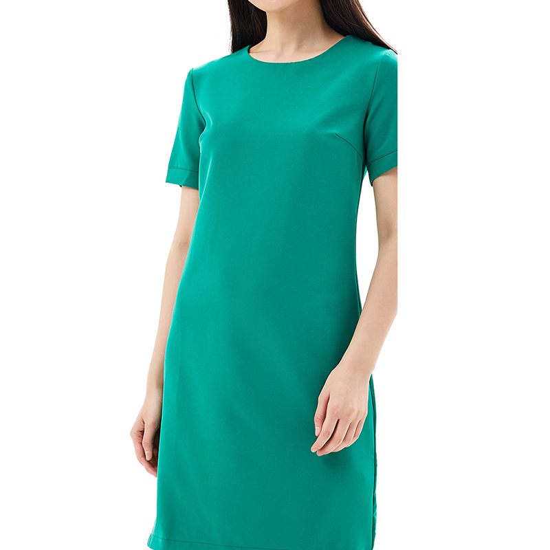 Dresses MODIS M181W00737 women dress cotton  clothes apparel casual for female TmallFS alluring scoop neck ruched asymmetrical backless women s dress
