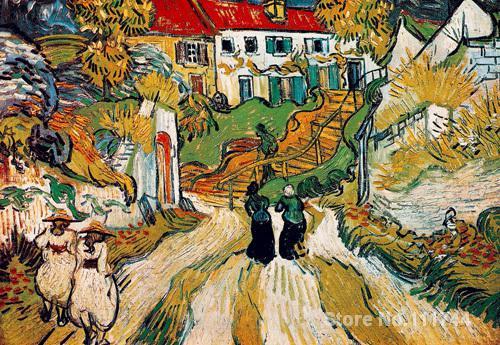 art Oil paintings Stairway at Auvers Vincent Van Gogh reproduction Handmade High qualityart Oil paintings Stairway at Auvers Vincent Van Gogh reproduction Handmade High quality