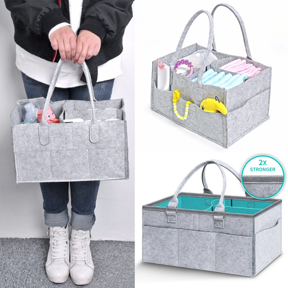 Mummy Bag Baby Diapers Nappy Changing Bag Bottle Storage Multifunctional Maternity Handbags Basket Organizer Stroller Accessory|Diaper Bags| |  - title=