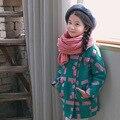 2016 Новая Мода Малышей Прекрасный Теплый Пальто Дети Девушки Сладкий Хлопок Куртка Дети Утолщаются И Пиджаки