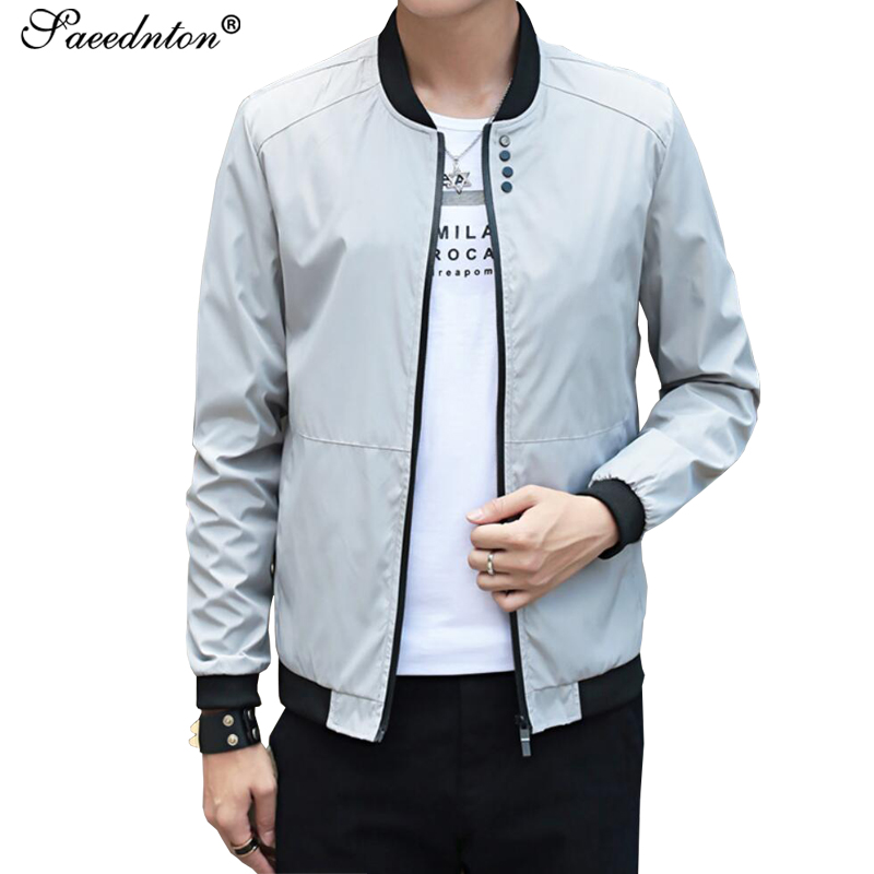 Fashion Male Jacket Coat Men 2019 Spring Business Casual Clothes Summer Thin Windbreaker Mens Black Bomber Jackets