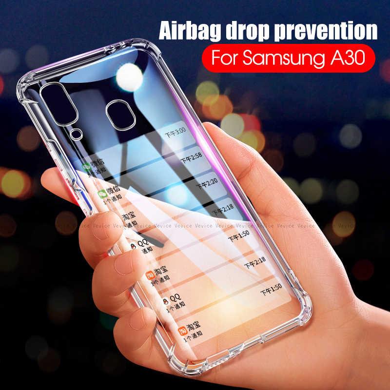 Airbag TPU Case For Samsung Galaxy A7 2018 M30 M20 M10 A70 A40 A20 A20e A10 A2 Core Clear Anti-Drop Cover For Samsung A30 A50