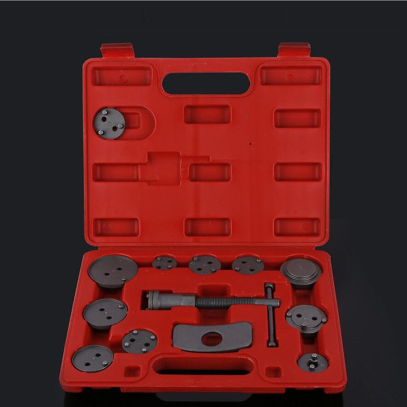 13 Pcs Universal Car Disc Brake Piston Caliper Tool Kit For Car Repair Tools Brake Sub Pump Brake Disassembly Tool 2 pair universal car 3d style disc brake caliper covers front rear