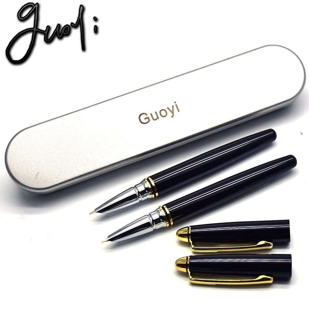 Guoyi D668 Brand Gift pen. 0.38mm Business fountain pen Creative stationery Office & School Supplies Metal Ink pen