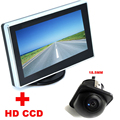 4.3 inch Color LCD Car Video Foldable Monitor Night Vision backup Camera 2 in 1 Auto Parking Assistance CCD Car Rear View Camera