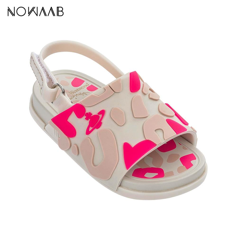 Mini Melissa Beach Slide Sandal  2019 New Summer Boy Girl Jelly Shoes Girls Non-slip Sandals Kids Beach Sandal Toddler