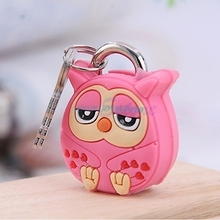 Creative Lock Cute Cartoon Animal Silicone Metal Luggage Padlock Security Lock Key #H028#