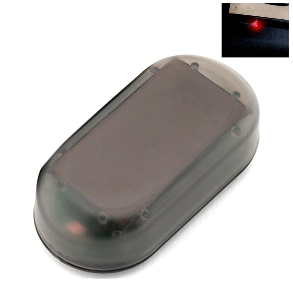 LED Light Simulation Anti-theft Alarm Lamp Signal Warning Security System Flash Caution Fake Universal Car Strobe Solar Power
