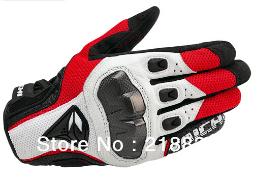 Free shipping Newest off-road half leather carbon fiber racing gloves motorcycle gloves knight gloves 3 color