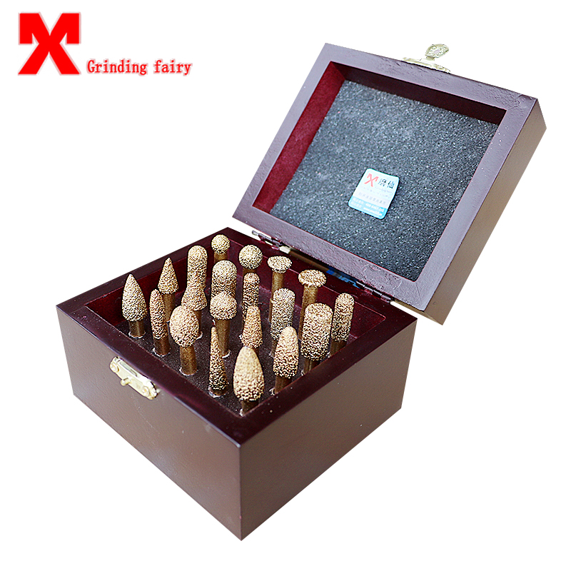 MX Brazing Diamond 20 Sets Of CNC Stone Jade Emerald Tombstone Ceramic Jade Carving Knife Grinding Head Grinding Wheel Cutter цены
