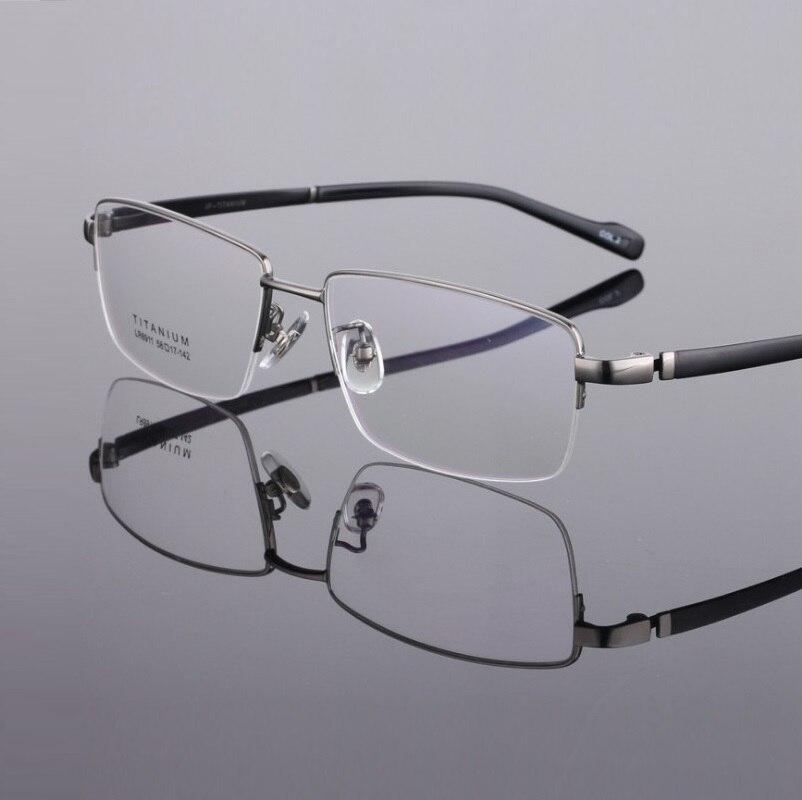 W-155 Pure Titanium Spectacle Frame Big Face Men half-rim prescriptio myopia eyeglasses frame large eyewear frame degree glasses