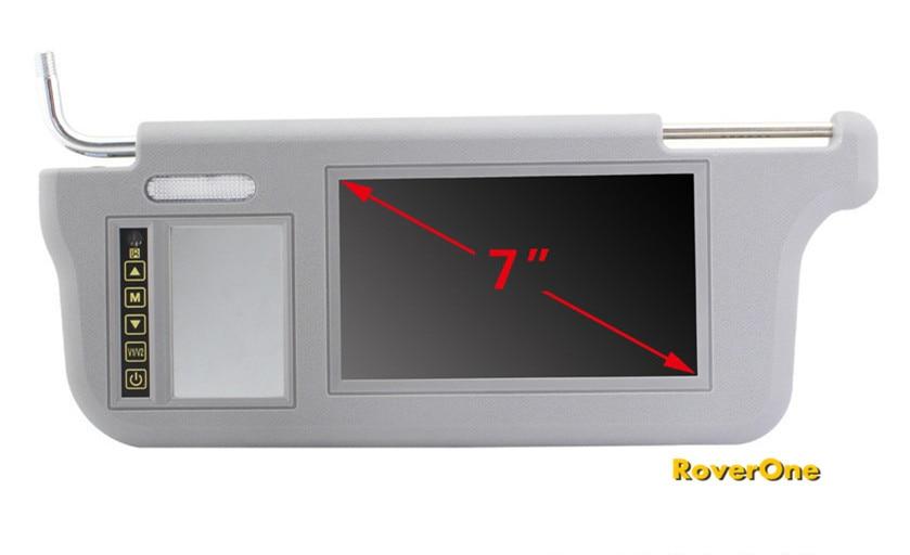 2 Pcs X 7 Inch Automotivo Auto Mobile Audio Video Bus Car Sun Visor TFT LCD  Monitor Display Sunvisor Monitor   Beige Gray Black-in Car Monitors from ... 8275eaa4695