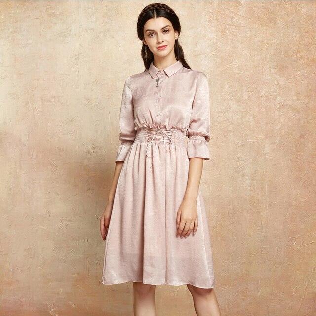 Rosa chiffon kleider