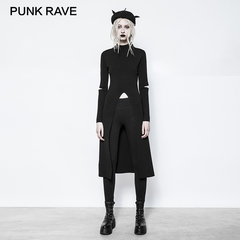 Punk Rave 2017 New Design Gothic Women Knitted Sweater