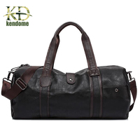 Hot Selling High Quality PU Leather Duffle Bag Men Travel Bags Gym Luggage Waterproof Handbags For