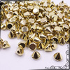 8mm CCB Gold Studs and Spikes Punk Sewing Rivets For Leather DIY Jewelry Craft Clothing Decorative 1000 pc
