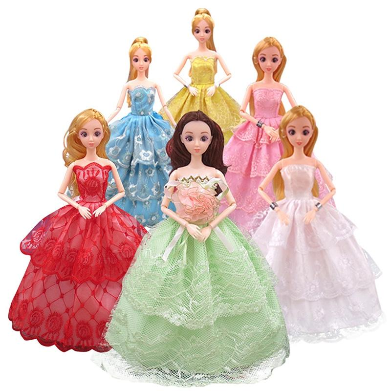 Leadingstar 11 Inches Barbie Dolls Clothes Wedding Evening Party