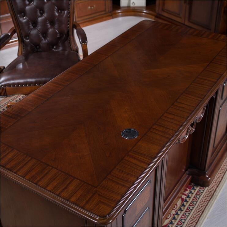 Amerikaanse meubels donkere kleur bureau studie bureau met lade opslag functie p10275 - 2