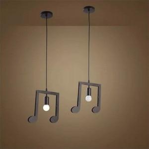 Image 4 - Feiemfeiyou A Z words Music character e27 Creative Black Led Pendant Lamp for Bar bedroom bookroom Pendant Lighting