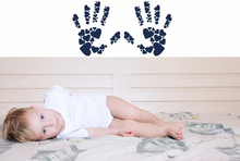 Handprints Pattern Wall Sticker Vinyl Art Removable Room Decoration Baby Nursery Playroom Poster Mural W291