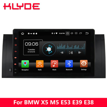 """KLYDE 9"""" IPS 4G WIFI Octa Core PX5 Android 8.0 4GB RAM 32GB ROM Car DVD Multimedia Player Radio Stereo For BMW M5 E39 1995-2003"""