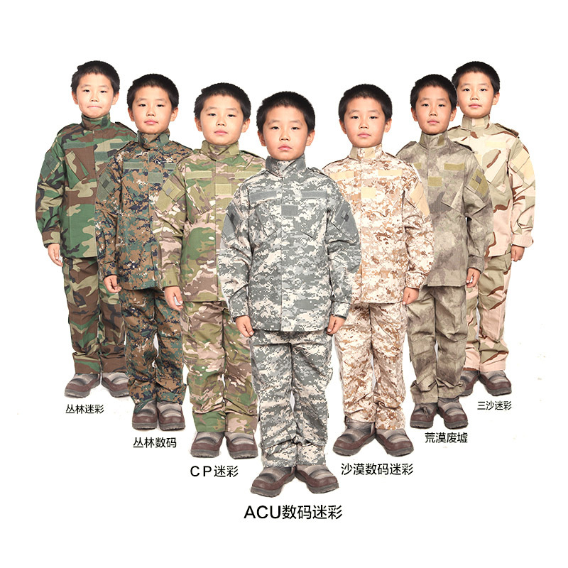 Children Summer Camp CS Army Camouflage Training Clothes Long Sleeve Shirt Pants Sets Kids Tops Jacket Trousers Sportswear Suits family fashion summer tops 2015 clothers short sleeve t shirt stripe navy style shirt clothes for mother dad and children