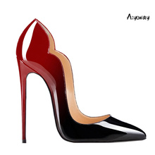 Aiyoway Women Shoes Ladies Pointed Toe High Heels Pumps Gradient Autumn Spring Clubwear Party Thin Slip On