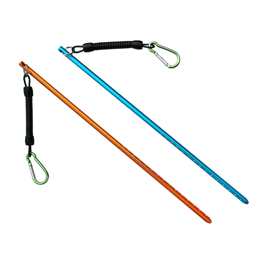 2Pcs Premium Scuba Diving Pointer Underwater Shaker Noise Maker With Carabiner Diving Pointer Stick Bolt Snap Clip