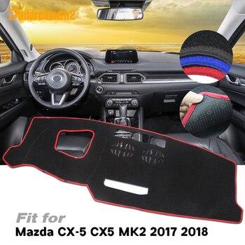 Alfombrilla para evitar Luz de coche, cubierta de salpicadero Interior, tablero de instrumentos, plataforma antideslizante, alfombrilla de cojín para Mazda cx-5 CX5 2017 2018
