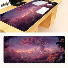 Mairuige  Fantasy Town Tree Mouse Pad Gaming Mouse Pad Large Cartoon Anime Rubber Mouse Pad Keyboard Mat Table Mat Six Size mairuige uzumaki naruto and uchiha sasuke jiraya anime roles mousepad diy mouse mat supper large of size gaming rubber mouse pad