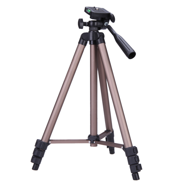 WT3130 Aluminum Alloy Camera Tripod Stand with Rocker Arm for Canon Nikon Sony DSLR Cameras Camcorders Lightweight Mini Tripod