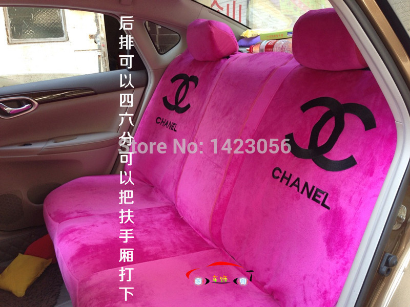 18PC Parts In A Lot Channel Not Hello Kitty Car Seat Covers Accessories Set Steering Wheel Cover Shoulder Pad And So On Automobiles