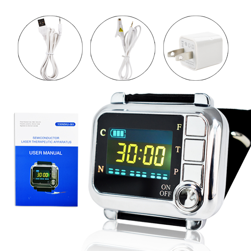 650nm Laser/Light physiotherapy Sinusitis Wrist Watch Diode LLLT For diabetes hypertension Treatment Diabetic Therapy instrument laser treatment machines for sale blood purifier low price phototherapy wrist type laser