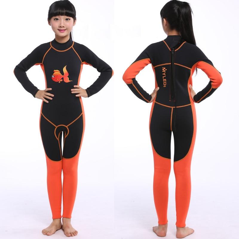 2 MM néoprène combinaison pour enfants garçons filles une pièce maillot de bain une pièce complet combinaisons humides pour la pêche plongée sous-marine surf plongée en apnée