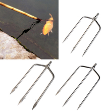 OOTDTY Stainless Steel Prong Harpoon Fish Fork Fishing Ice Breaker AccessoryTackleTool  for fishing