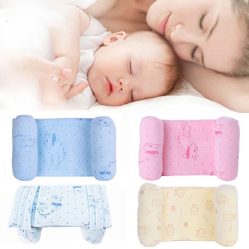 Newborn Infant Baby Pillows Toddler Kids Boy Girl Safe Cotton Anti Roll Pillow Sleep Flat Head Positioner Newborn Baby Pillows