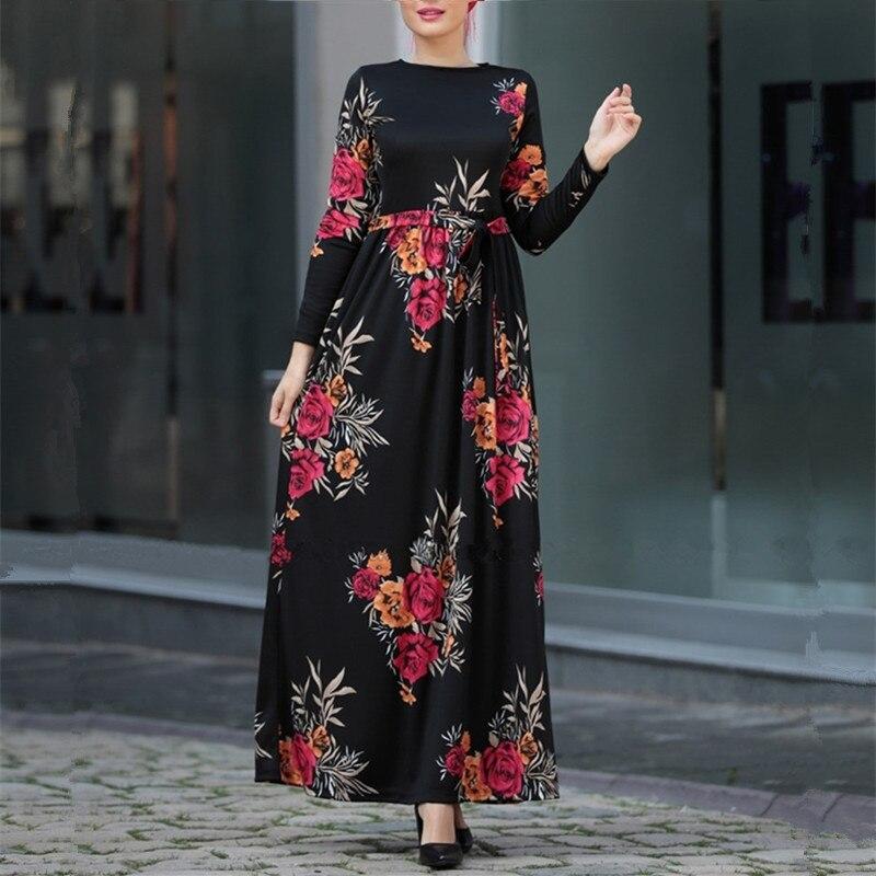 Abayas For Women Muslim Hijab Dress Jilbab Abaya Kaftan Robe Caftan Dubai Ramadan Qatar UAE Oman Turkish Elbise Islamic Clothing