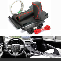 Top Cowhide Sew On Genuine Leather Steering Wheel Cover For Mazda 6 2012 AT MT