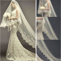 2016 New Luxury Wedding Veil with Long Train Appliques 3M White/Ivory Wedding Accessories Wedding Dress Elegant Bridal Veils