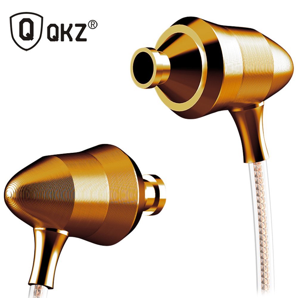 Earphone Original QKZ-DM5 Stereo BASS Metal in-Ear Earphone Noise Cancelling Headsets DJ In Ear Earphones HiFi Ear Phone