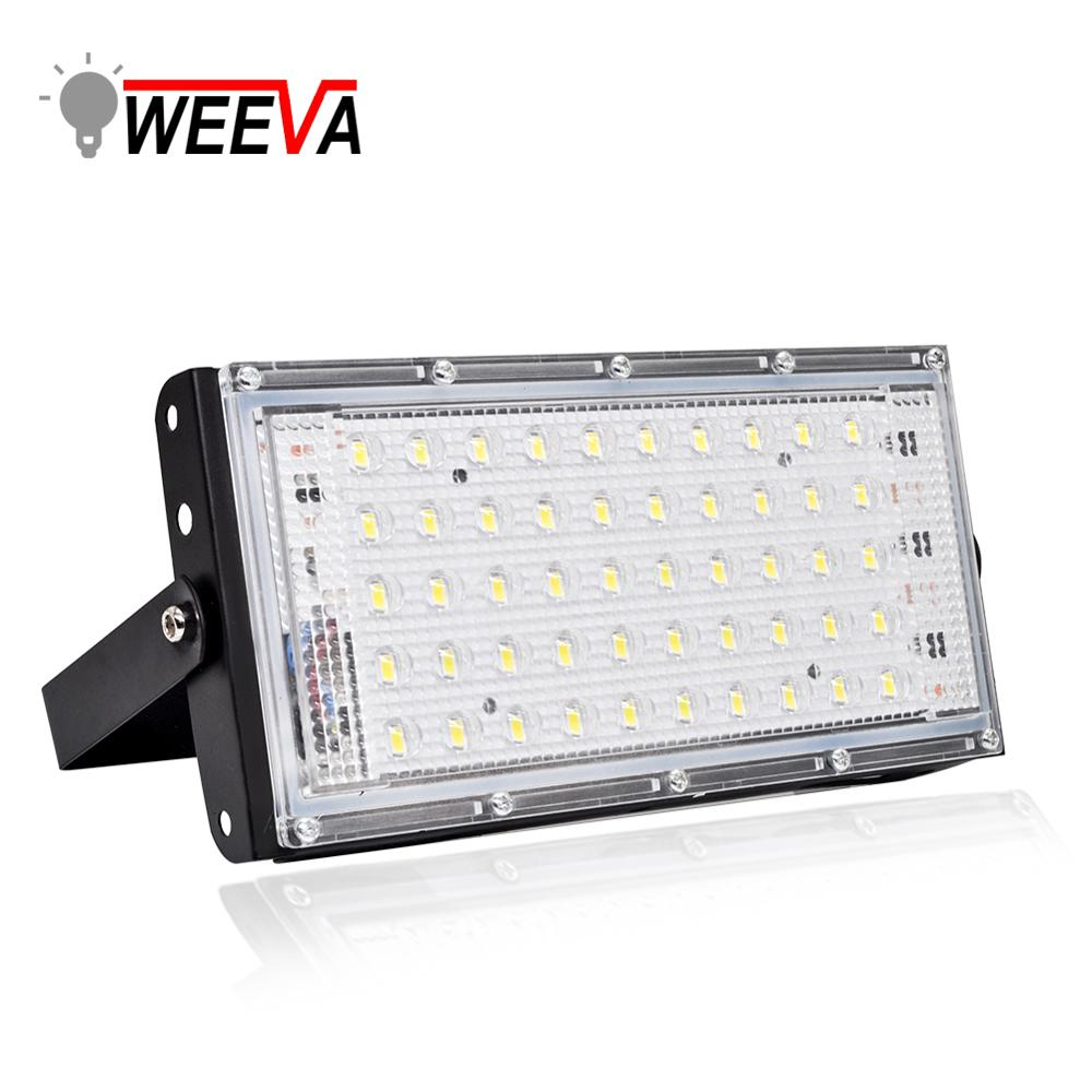 WEEVA Led Floodlight 50W Waterproof IP65 Outdoor Reflector Garden Lamp AC 220V 240V