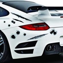 1PCS JSD Car Styling Auto Creative 3D Sticker Fake Bullet Holes Gun Shots Funny Helmet Stickers Car Accessories